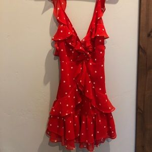 For Love and Lemons spicy red dress